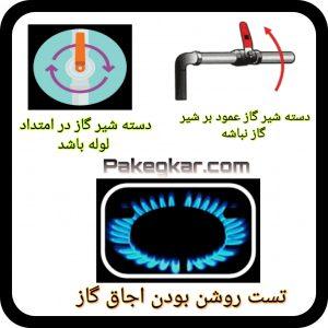 بسته بودن شیر گاز دلیل بروز ارور 70 80 ایران رادیاتور